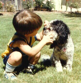 [Boy and Dog enlarged]